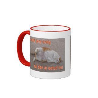 LOL CAT: ai calld jeny craig-but den ai eeted her Coffee Mug