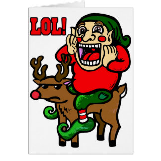 LOL Christmas Elf Card