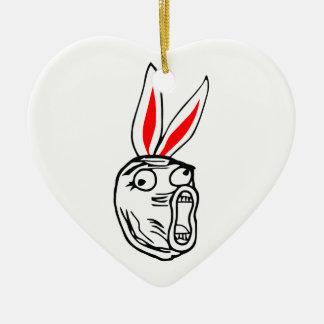 LOL - Easter Bunny edition internet meme Christmas Tree Ornament
