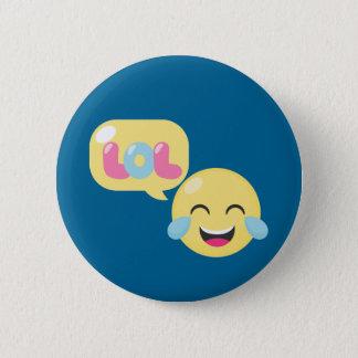 LOL Emoji Bubble 6 Cm Round Badge
