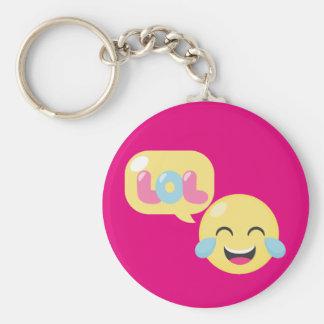 LOL Emoji Bubble Key Ring