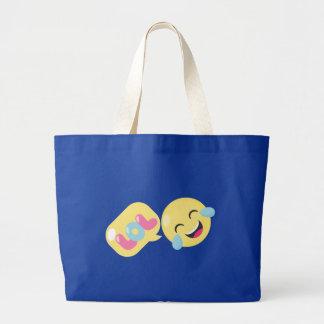 LOL emoji bubble Large Tote Bag