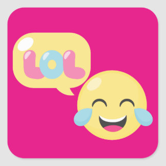 LOL Emoji Bubble Square Sticker