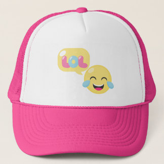 LOL Emoji Bubble Trucker Hat