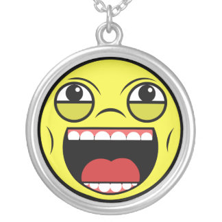 LOL Face Silver Plated Necklace
