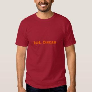 lol. fame (orange on maroon) shirt