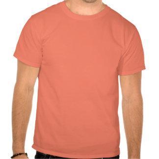 lol. fame (strong red on orange) tshirt