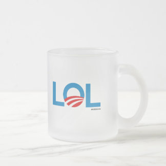 LOL FROSTED GLASS MUG