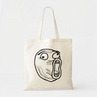 LOL Laugh Out Loud Rage Face Meme Budget Tote Bag