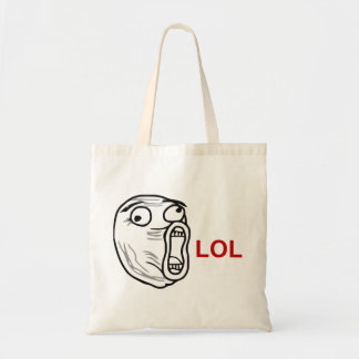 LOL Laugh Out Loud Rage Face Meme Tote Bag