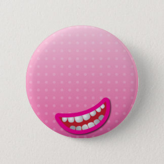 LOL laughing mouth with teeth cute! 6 Cm Round Badge