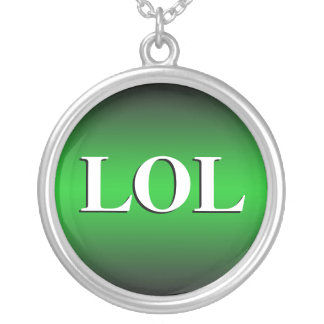 LOL ~ Laughing Out Loud ~ Green Necklace
