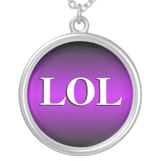 LOL ~ Laughing Out Loud ~ Purple Necklace