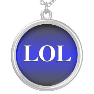 LOL ~ Laughing Out Loud ~ Royal Blue Necklace
