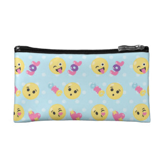 LOL OMG Emoji Pattern Cosmetic Bag