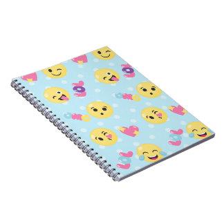 LOL OMG Emoji Pattern Notebook