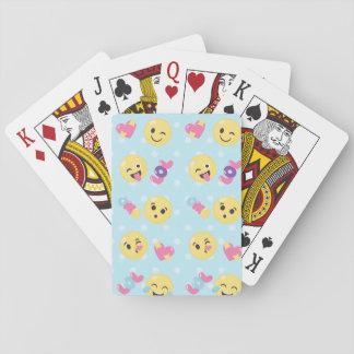 LOL OMG Emoji Pattern Playing Cards