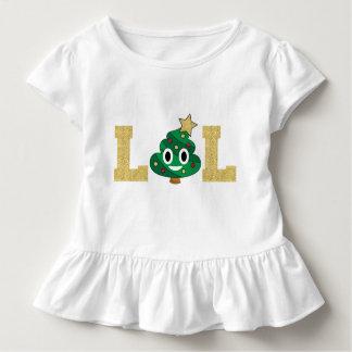 LOL Poop Emoji Toddler Ruffle Tshirt