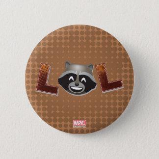 LOL Rocket Emoji 6 Cm Round Badge