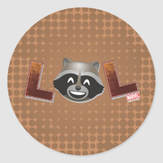 LOL Rocket Emoji Classic Round Sticker