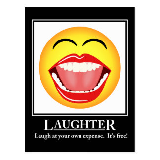LOL Smiley Face Laughter Motivational Post Card