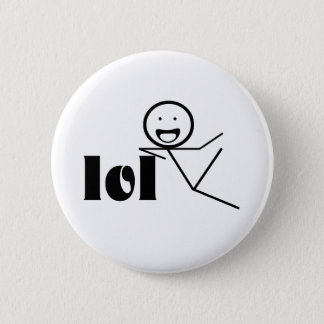 lol stick man 6 cm round badge