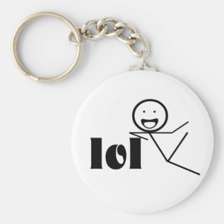 lol stick man basic round button key ring