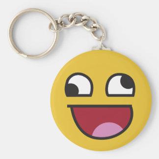 lol. wonky eyes emoji key ring