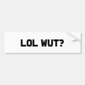LOL Wut Bumper Sticker