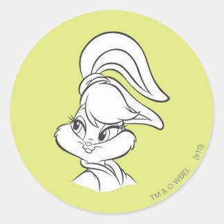 Lola Bunny Expressive Round Sticker