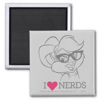 Lola Bunny - I Heart Nerds Refrigerator Magnets