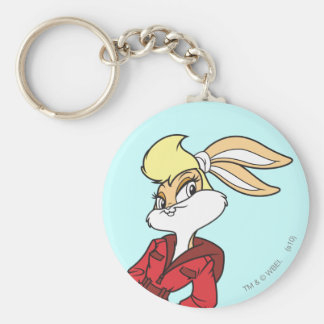 Lola Bunny Super Cute Basic Round Button Key Ring