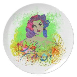 Lola Melamine Plate