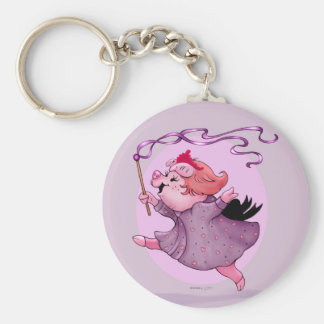 LOLA PIGGY BUTTON  KEYCHAIN BASIC