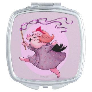 LOLA PIGGY CARTOON compact mirror SQUARE