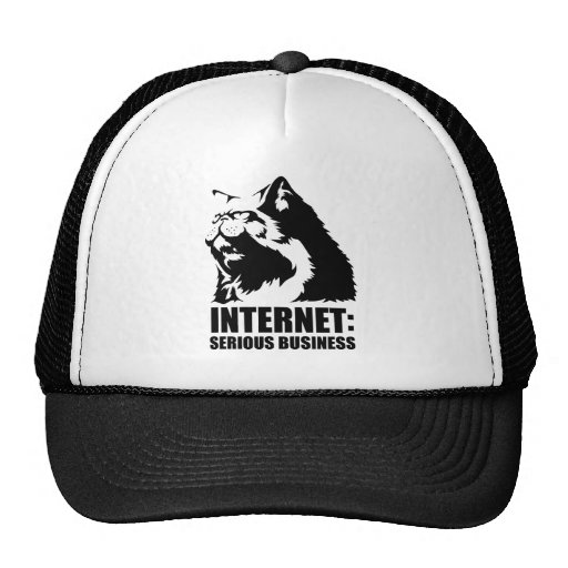 lolcat the internet is serious business mesh hats