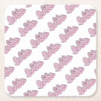 lolita square paper coaster