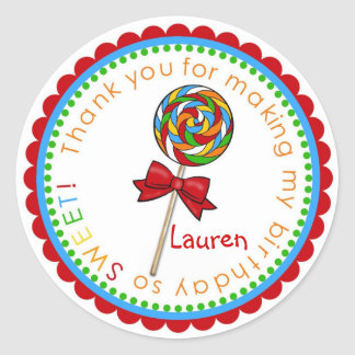 Lolli Lollipop- primary_edited-1, Lauren Classic Round Sticker