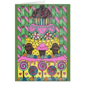 Lollipop Cake  Birthday Card