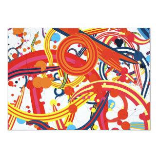 "Lollipop Carnival Candy Swirls Colourful fun 5"" X 7"" Invitation Card"