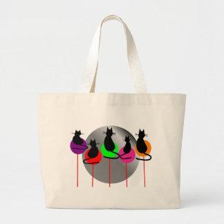 lollipop cats 5 large tote bag