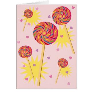 Lollipop Dance Card