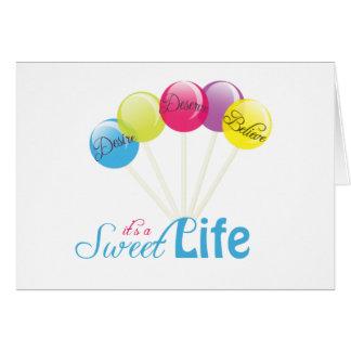 lollipop design card