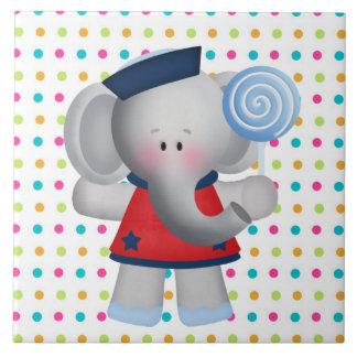 Lollipop Elephant cartoon Bakery tile