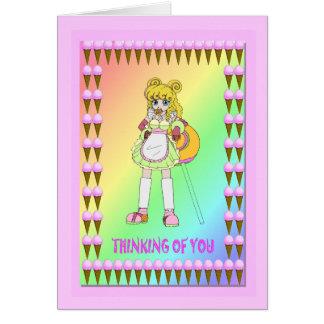 Lollipop girl card