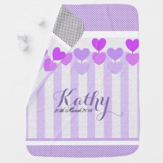 Lollipop  Hearts Baby Blanket