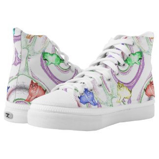 Lollipop Kittens Printed Shoes