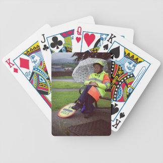 Lollipop Lady Bicycle Playing Cards