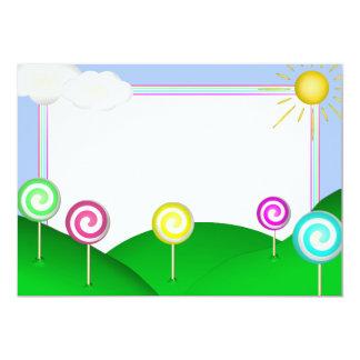 Lollipop land 13 cm x 18 cm invitation card