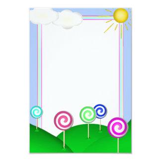 Lollipop land 9 cm x 13 cm invitation card
